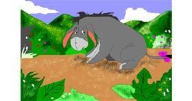 Drawing of Donkey by Jimmah