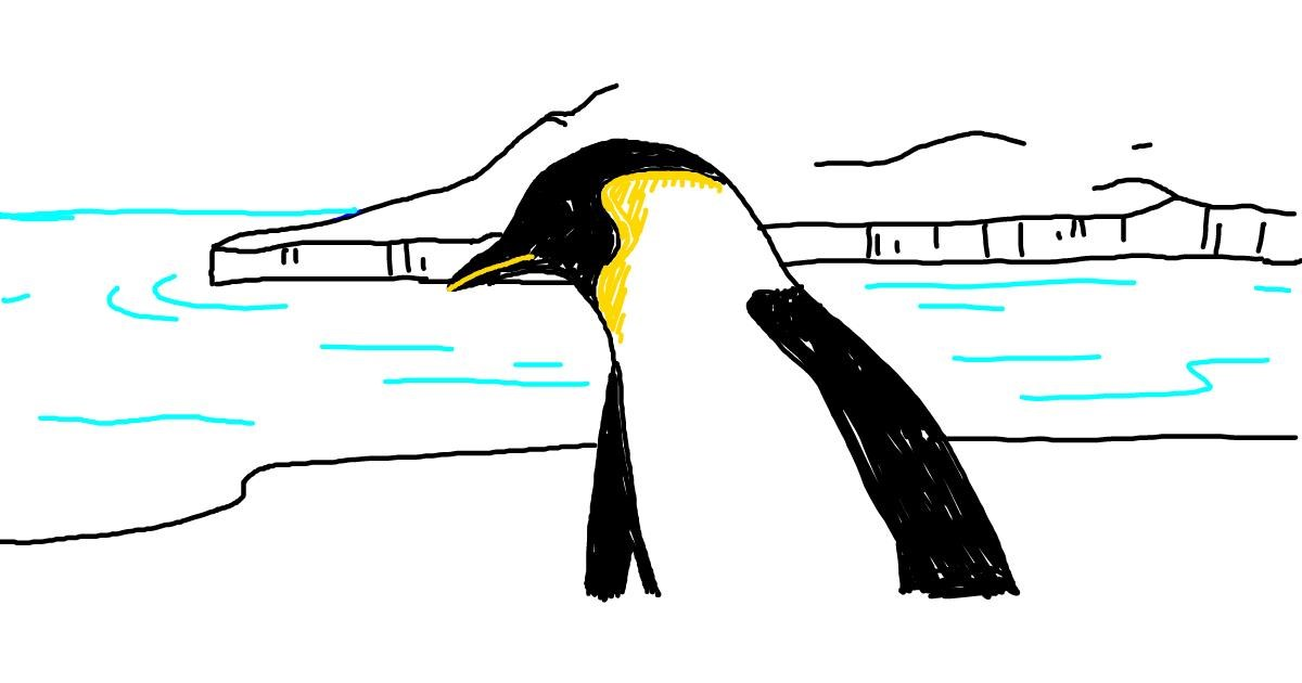 Penguin drawing by AutumnHeart