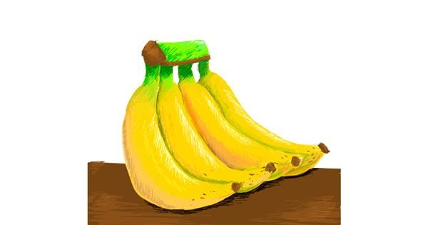 Banana drawing by AlwaysN
