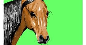 Horse drawing by Sam