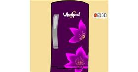 Drawing of Refrigerator by Mithi