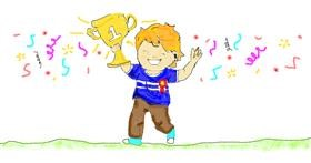 Drawing of Trophy by Chloe