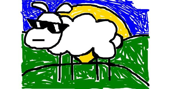 Sheep drawing by WolfieYT