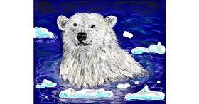 Polar Bear drawing by Kira