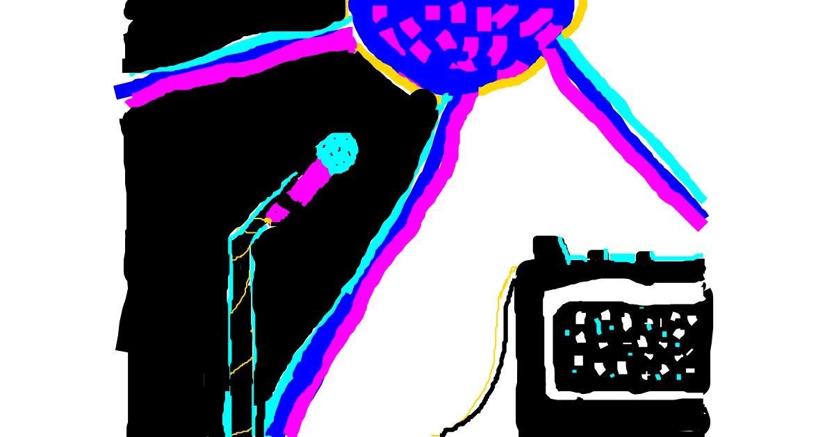 Microphone drawing by Yonaseb