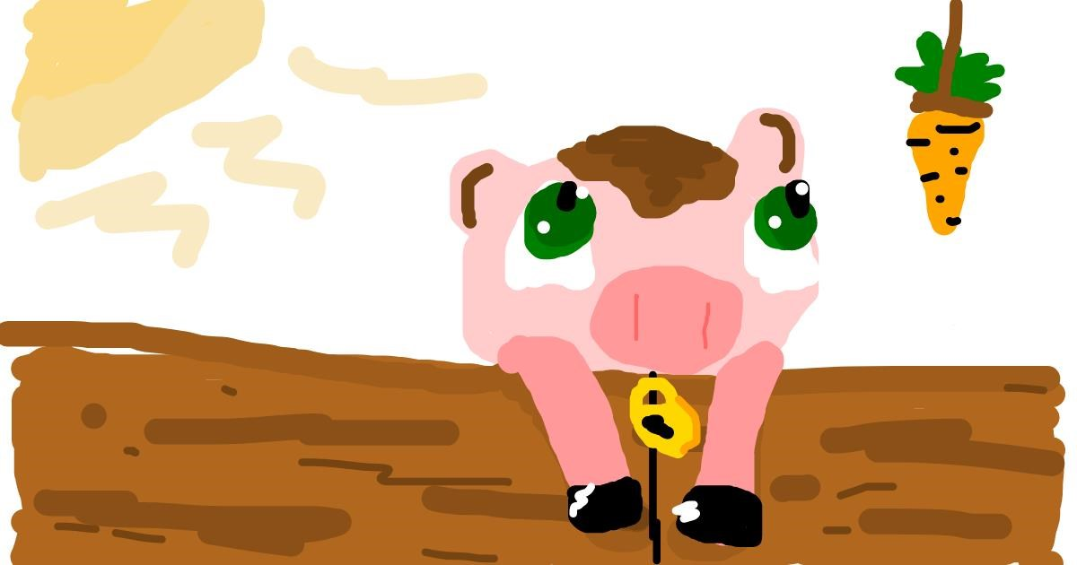 Pig drawing by Star