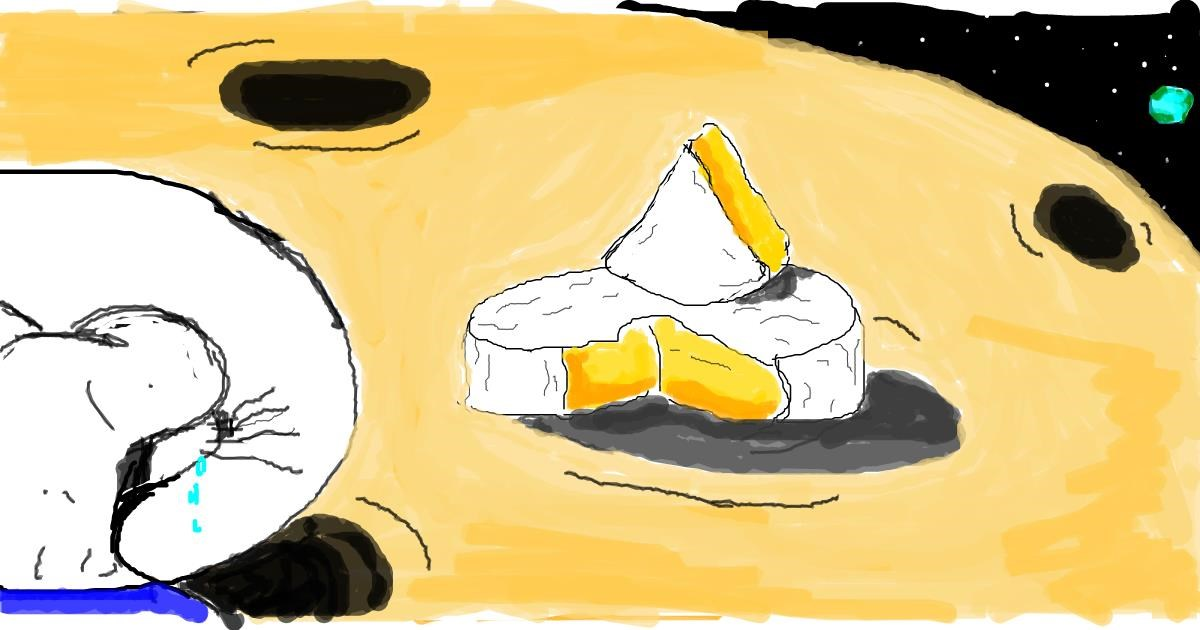 Drawing of Cheese by JAmile