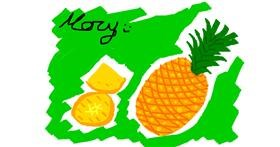 Pineapple drawing by mary