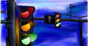 Drawing of Traffic light by Soaring Sunshine