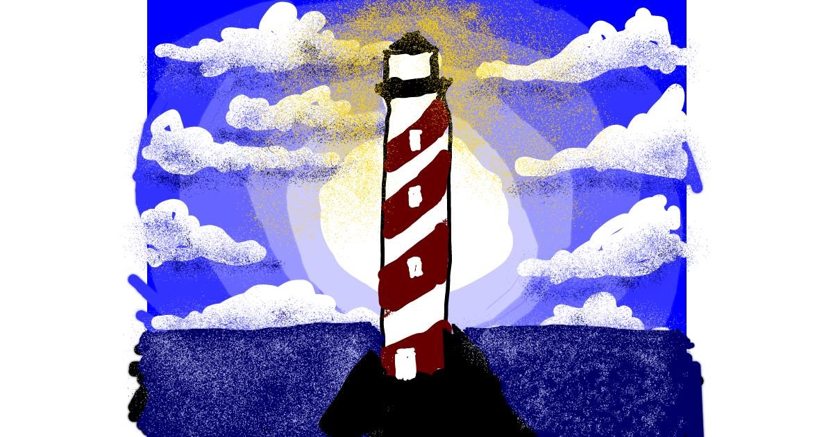 Drawing of Lighthouse by Cherri