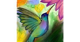 Drawing of Hummingbird by Zeemal