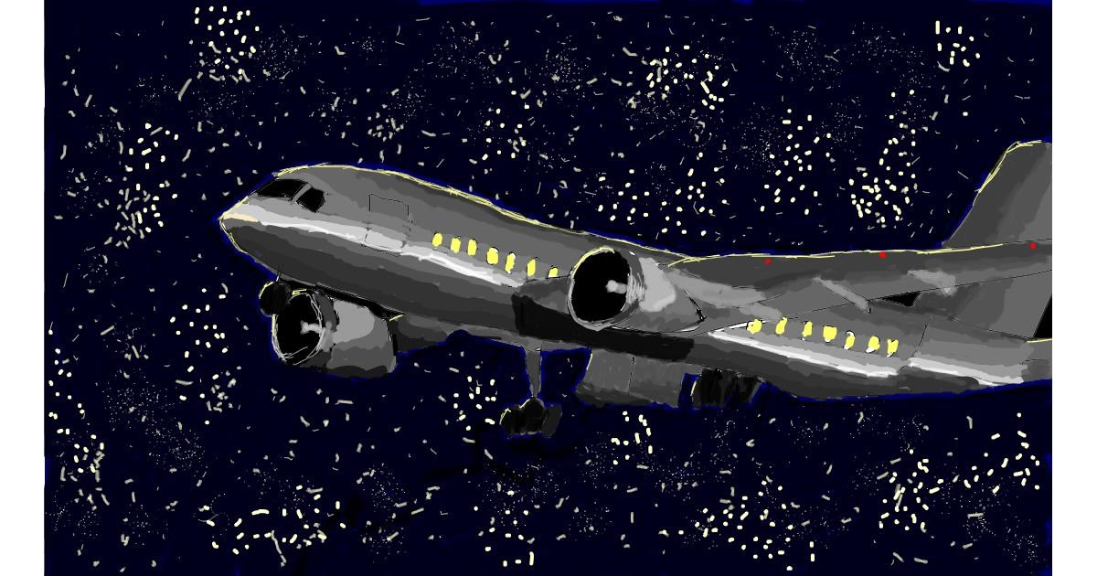 Airplane drawing by Sam