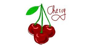 Cherry drawing by Laura96