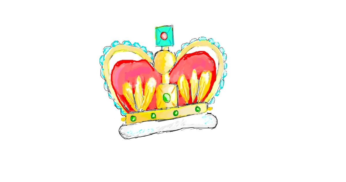 Crown drawing by coconut