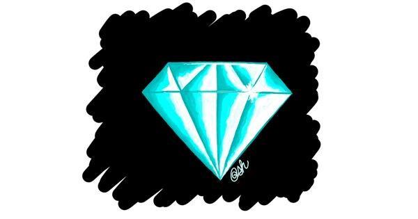 Diamond drawing by Ashley