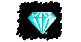 Diamond drawing by Ashley