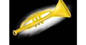 Trumpet drawing by Randar