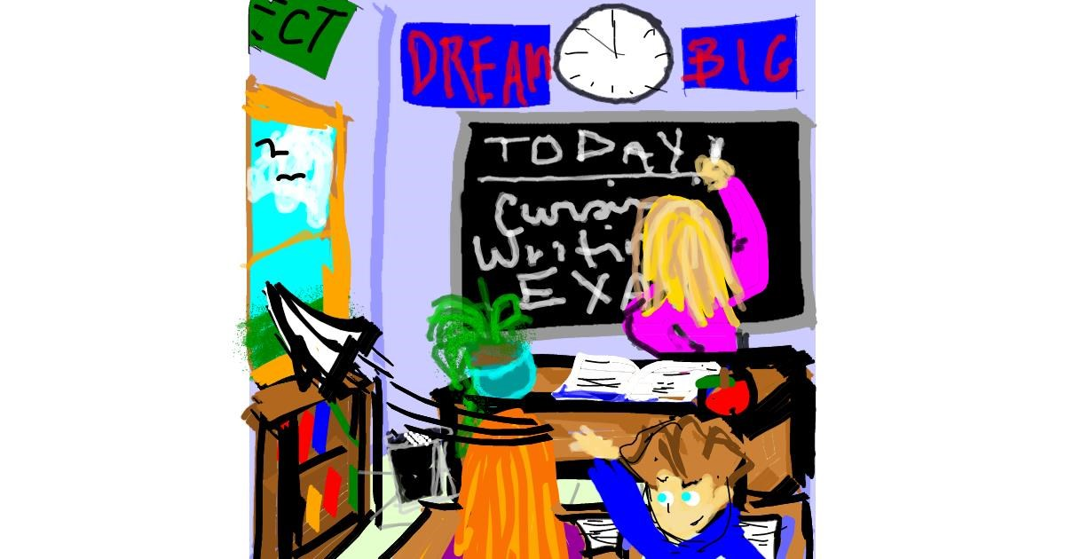 Drawing of Teacher by SIREN