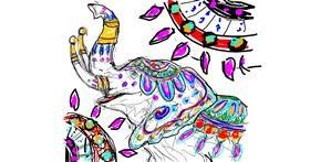 Elephant drawing by Kiwi