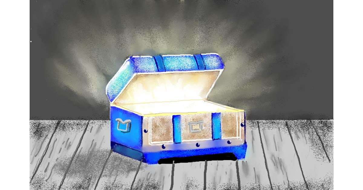 Drawing of Treasure chest by GJP