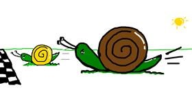 Snail drawing by Rosa