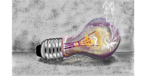 Light bulb drawing by GJP