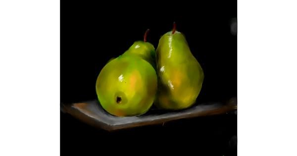 pear drawing by JSim