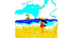 Beach drawing by hugg