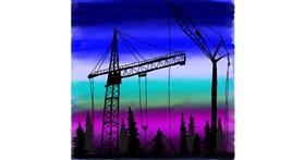 Crane (machine) drawing by Leah