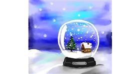 Drawing of Snow globe by Joze