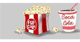 Drawing of Popcorn by Debidolittle