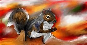 Drawing of Squirrel by Soaring Sunshine