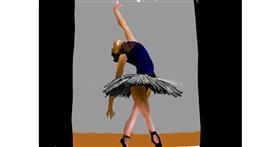 Ballerina drawing by Rak