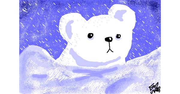 Polar Bear drawing by *bREATHING*