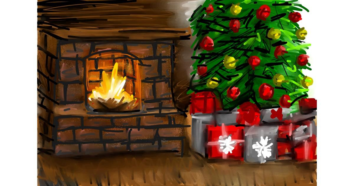 Fireplace drawing by Soaring Sunshine