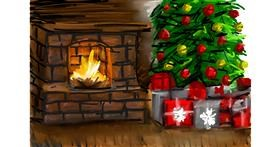 Drawing of Fireplace by Soaring Sunshine