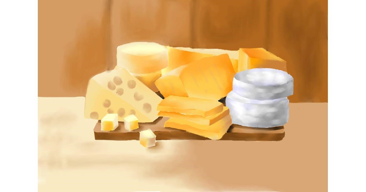 Drawing of Cheese by Swkieee