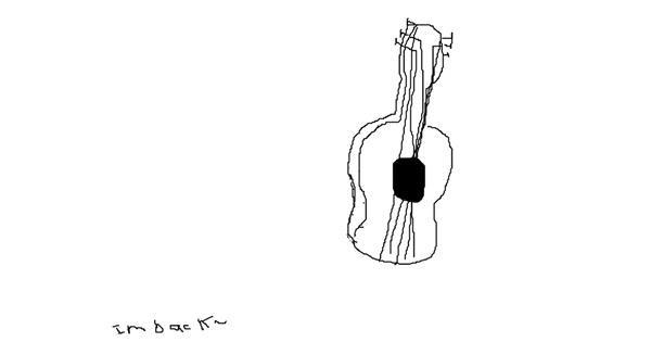 Guitar drawing by Jon