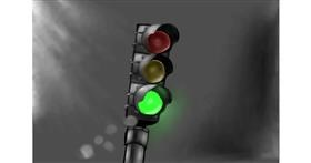 Drawing of Traffic light by Wizard