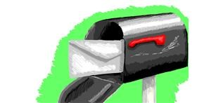 Drawing of Mailbox by Tiger