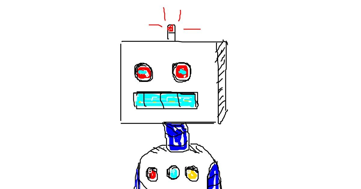 Drawing of Robot by aa
