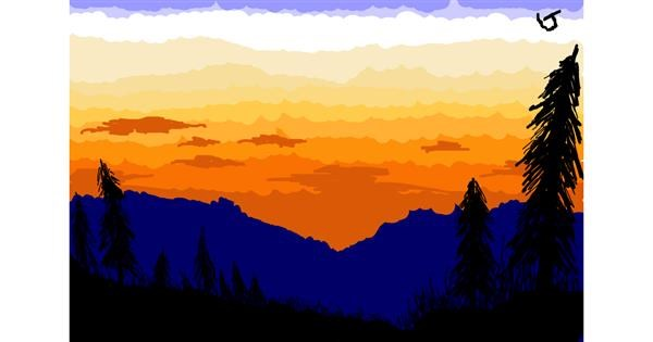 Sunset drawing by The536