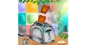 Toaster drawing by Zeemal