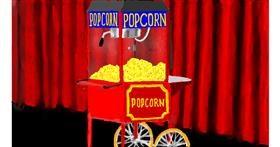 Drawing of Popcorn by SAM AKA MARGARET 🙄