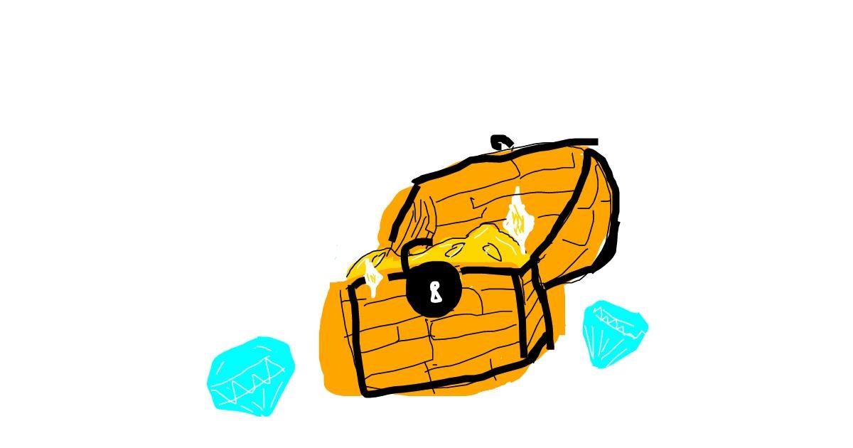 Drawing of Treasure chest by Shilah