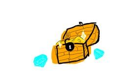 Treasure chest drawing by Shilah