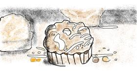 Muffin drawing by Destiny