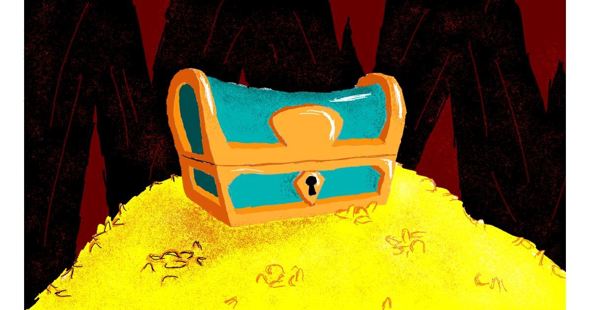 Drawing of Treasure chest by Sam