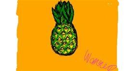Pineapple drawing by Warren