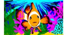 Clownfish drawing by Katters